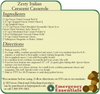 Zesty Italian Crescent Casserole