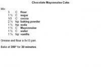 Mayonnaise Cake
