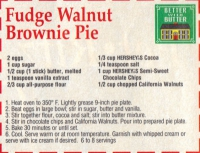 Fudge Walnut Pie