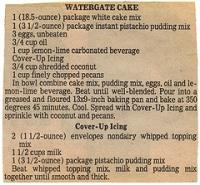 Watergate Dessert