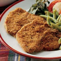 Breaded pork chops