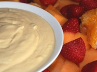 Orange fruit dip