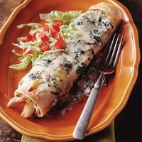 Spinach Chicken Enchiladas