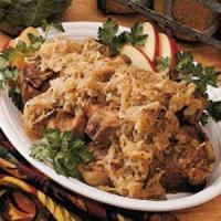 Country Pork And Sauerkraut