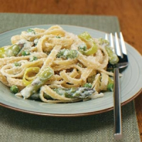Fettuccine With Ham And Peas