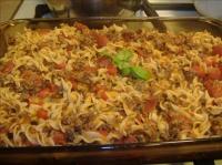 Hamburger Noodle Bake