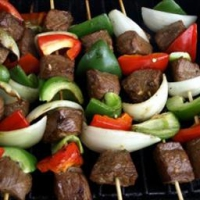 Beef And Bacon Shish Kabobs