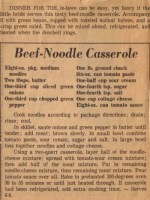 Beef noodle casserole