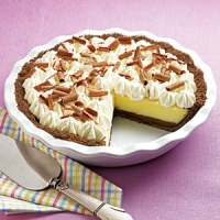 For vanilla/chocolate cream pie