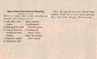Sour Cream Dressing
