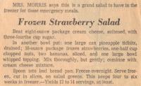 Frozen Strawberry Salad