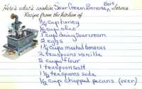 Sour cream banana bars