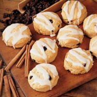 Cinnamon and raisin biscuits
