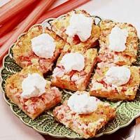 Rhubarb Torte