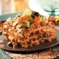 Beefy Mexican Lasagna