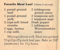 Favorite Meat Loaf