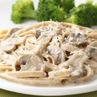 Fettuccine With Ham And Mushroom Sauce
