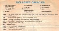 Molasses Crinkles