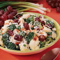 Broccoli And Cauliflower Salad