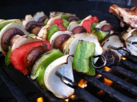 Grilled Vegetable Kabobs With Rice