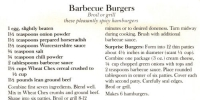 Barbecue Hamburgers