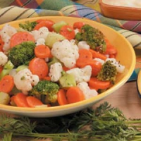 Italian dressing and vegetables with rice
