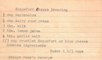 Roquefort Cheese Dressing