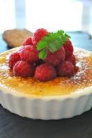 Raspberry Custard Brulee