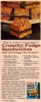 Crunchy fudge sandwiches
